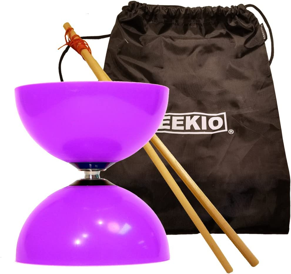 Sundia Fly Diabolo Set - Very popular! Bearing Selling and selling Axle Purple Short