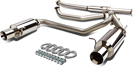 For Tiburon GK V6 Stainless Steel Dual 4 inches Rolled Tip Catback Exhaust System
