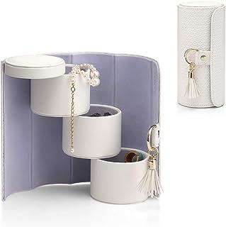 Vlando Viaggio Small Jewelry Case Travel Accessory Storage Box Jewelry Organizer White