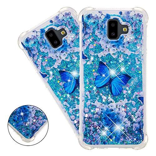 COTDINFOR Samsung Galaxy J6 Plus Funda Líquido Cute 3D Glitter Sparkle Bling Quicksand Caso Silicona Blanda Protectora Carcasa para Samsung...