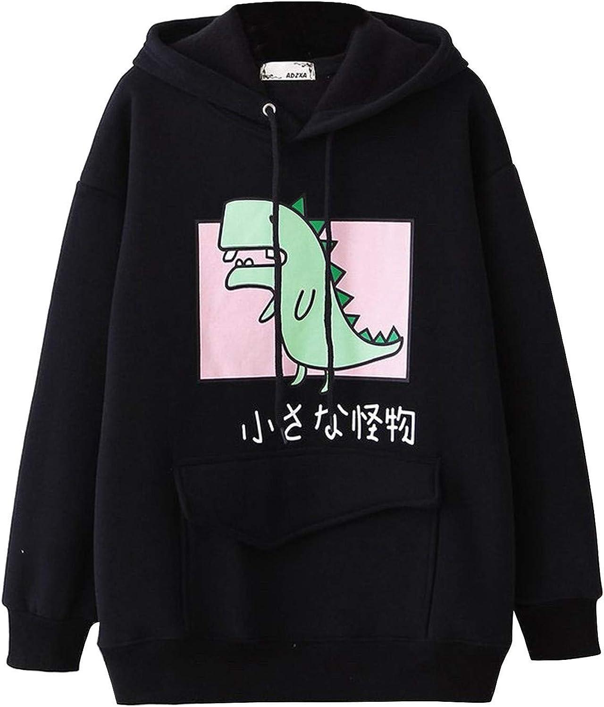 Jaqqra Max 45% OFF Hoodies excellence for Women Women's Sleev Dinosaur Sweatshirt Long