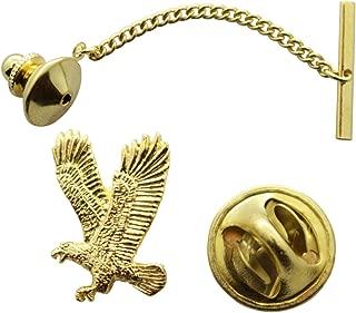 Sarah's Treats & Treasures Flying Eagle Tie Tack ~ 24K Gold ~ Tie Tack or Pin