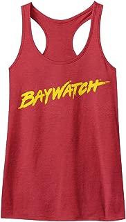 American Classics Baywatch 90's Drama Beach Patrol Lifeguard Logo Womens Tank Top Tee
