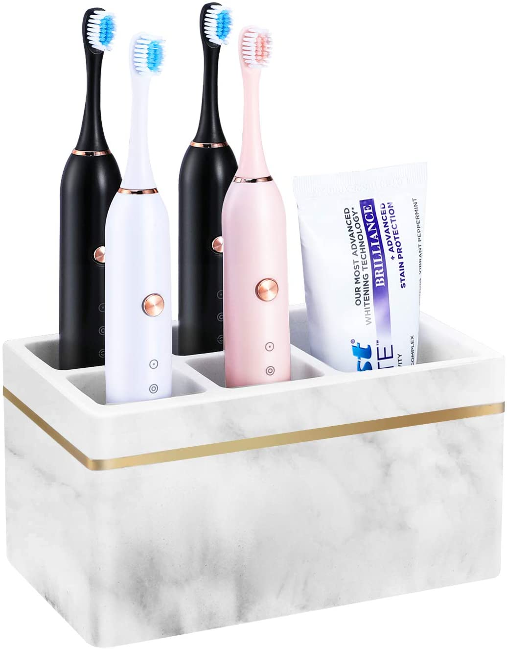 Luxspire Max 43% OFF Popular products Toothbrush Holders Electric Resin Toothpast