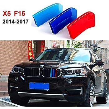 Motor Sports M Color 3D Front Grille Strips Insert Trim Compatible Decoration 3Pcs For X5 E70 2008-2013 7 Grille