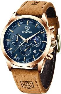 BENYAR Wrist Watches for Men Quartz Movement Analog Chronograph Business Sport Design Mens Watch 3ATM Waterproof Stylish E...