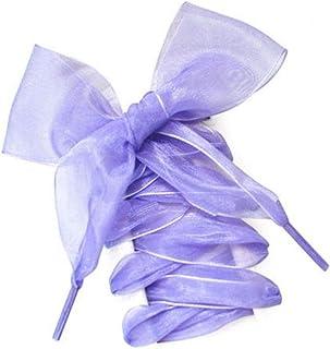 1 paire de lacets plats en satin de soie pour femme 110 cm