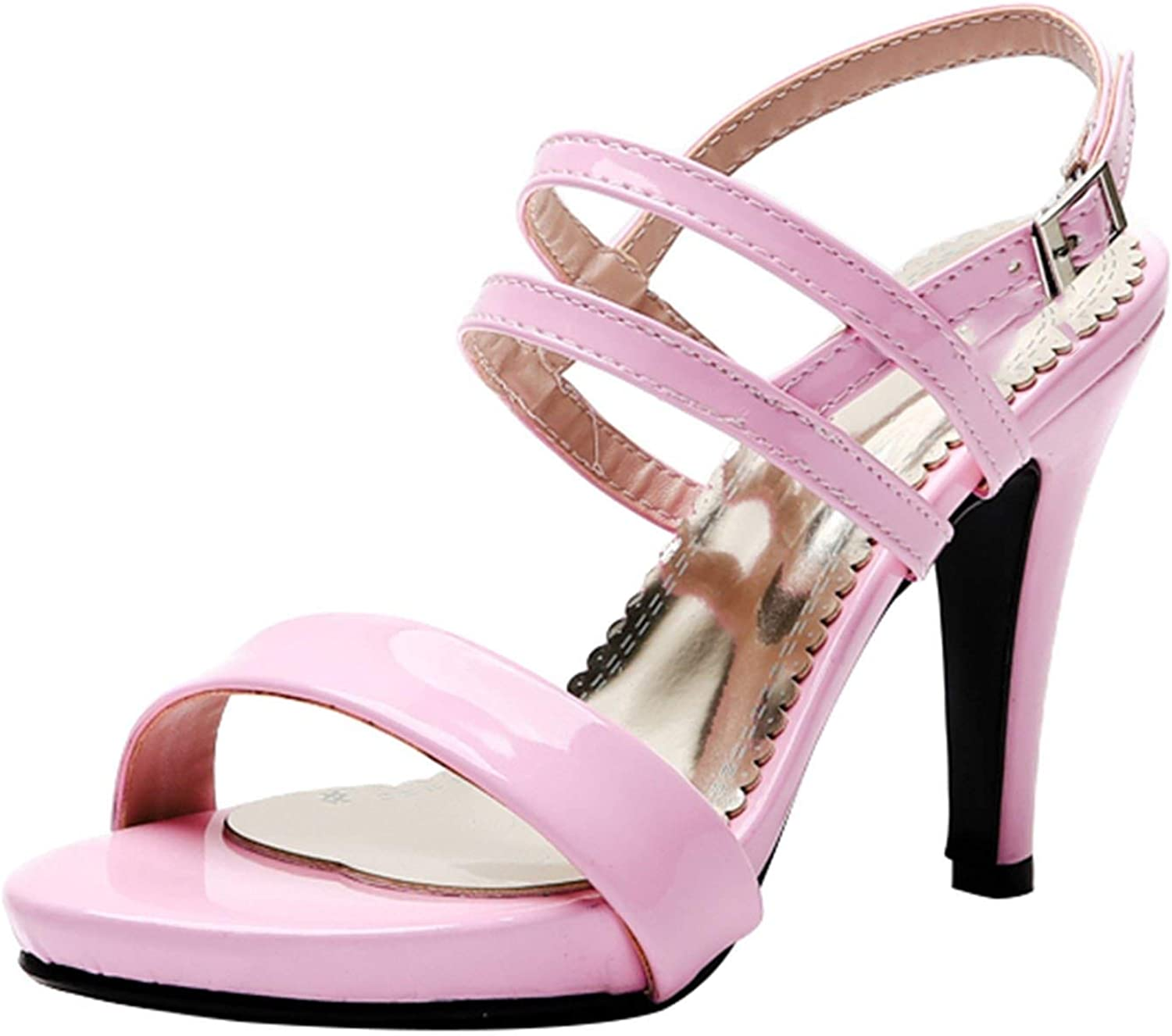 Size 43 Buckle Strap Spike High Heels Summer Sandals Sandals Female shoes Woman