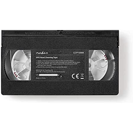 NEDIS Cassette de Nettoyage | 20 ML | Têtes VHS | Noir