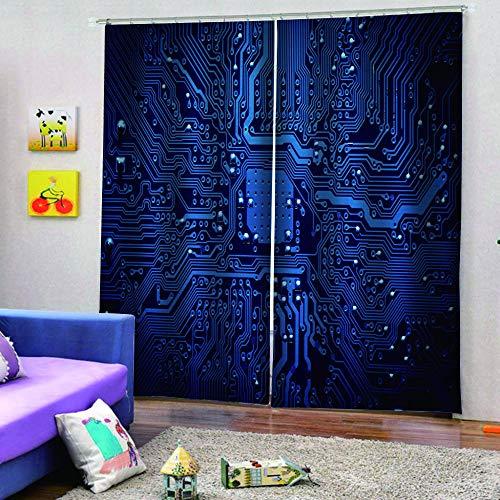 BCDJYFL Blickdicht Vorhänge 3D Prozessor Energiesparen Lärm Reduzieren Behandlung Für Schlafzimmer Wohnzimmer Kinderzimmer Vorhänge.182X214Cm(Breite X Höhe)
