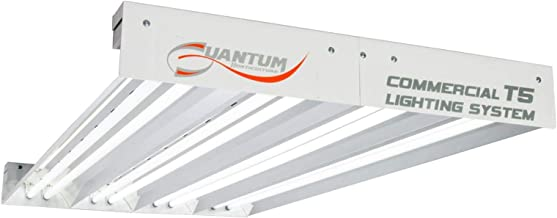 Hydrofarm Quantum 4' T5 432W 8-Tube Fixture Without Lamps, Medium