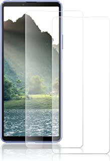 ROVLAK Skärmskydd för Sony Xperia 10 III härdat glas skärmskydd heltäckande repsäkert anti-fingeravtryck skyddande filmsky...