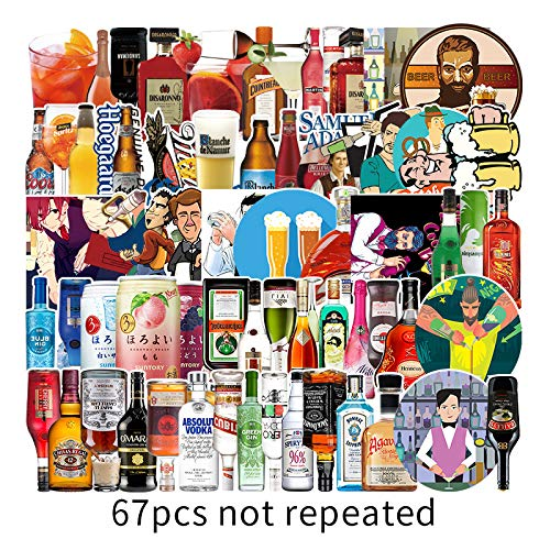 Wine Bottle Graffiti Stickers Luggage Scooter Notebook Electric Car Mobile Phone Refrigerator Waterproof Stickers 67 Sheets