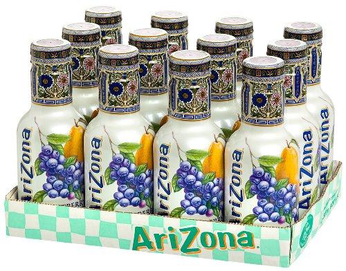 ARIZONA Blueberry White Tea 12 x 500 ml PET inc. 3,00€ EINWEG Pfand