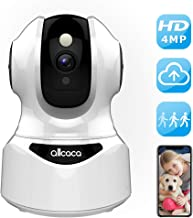 Wireless Security Camera, 4MP Baby Monitor Pet Camera Indoor Home Security Camera System with Sound Detection 2 Way Audio Cloud Service Night Vision, Support iOS/Android TF Card for Pets Elders Babies