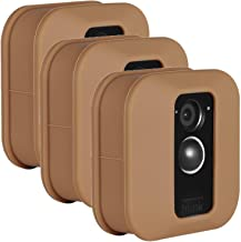 Wasserstein Colorful Protective Silicone Skin Compatible with Blink XT & XT2 Outdoor Camera - Help Camouflage and Accessorize Your Home Security Camera (3 Pack, Brown)