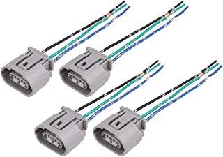 uxcell 4pcs DC 12V 3-Wires Automotive Electric Fan Harness Socket Connector Universal