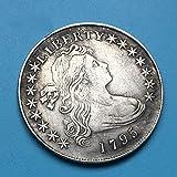 KaiKBax Best Morgan US Dollars-Old Coin Collecting-USA Old Replica Morgan Dollar Coins-Handmade US Coin 1795