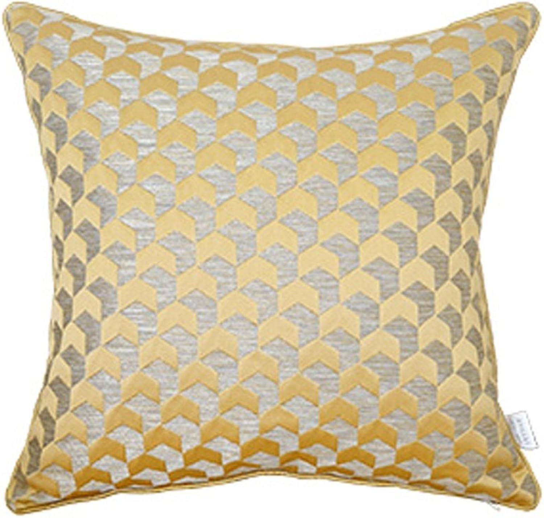 RFJJAL Dossier Simple de lit d'oreiller de Sofa Moderne de Coussin, siège de Sofa de série d'or, Oreiller démontable et Lavable avec Le Noyau sur Le Sac (Couleur   Style Space, Taille   50cm50cm)