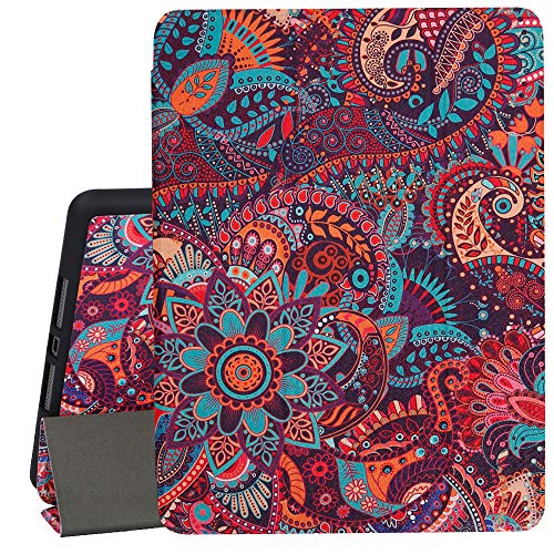Hepix iPad 10.2 Case Paisley 2019 iPad 7th Generation Case with Pencil Holder, Retro Slim Stand Hard Back Shell Protective Smart Cover Shockproof Case with Auto Sleep Wake for A2197 A2198 A2200
