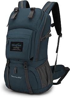 WindTook 40L Damen Rucksack Wanderrucksack Trekkingrucksack Daypack mit Regenschutz, 55 x 33 x 20 cm, Blau