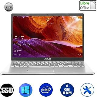 Asus VivoBook Silver ordenador portátil Notebook, pantalla 15,6 pulgadas Full HD, Cpu Intel hasta 2.60 Ghz 4 GB RAM ddr4, Ssd 256 GB, Windows 10 Professional