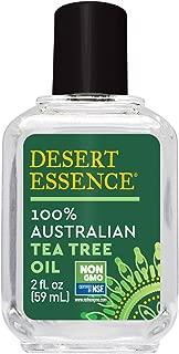 Desert Essence 100% Australian Tea Tree Oil - 2 Fl Oz - Therapeutic Grade Essential Oil - Skin Irritation - Glowing Skin - Home Cleansing - Refreshing - Natural Glow - Pedicure Regimen - Long Lasting