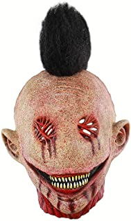 ZJMIYJ Halloween mask, läskig skräckmask läskig latex helmask Halloween Cosplay party kostym rekvisita
