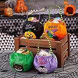 Sayala 4 Piezas Bolsas Grandes de golosinas de Halloween, Truco o Trato de Halloween, Bolsas de...