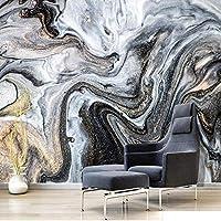 カスタム3D壁紙モダンインク風景金箔大理石写真壁壁画リビングルーム研究クリエイティブアート壁紙,350(W)*256(H)Cm