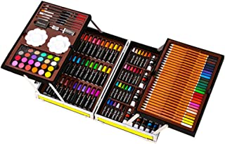 AMERTEER Art Set Art Supplies artists drawing set 143-Piece for Drawing, Painting and More in a Compact, Portable Case - M...