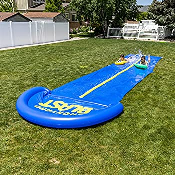BACKYARD BLAST - 30  Waterslide with Splash Zone - Easy to Setup - Extra Thick to Prevent Rips & Tears