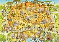 大人の教育玩具ゲームの1000個漫画象動物風景パズル愛好家現代の創造的な装飾ギフト 26 X 38cm