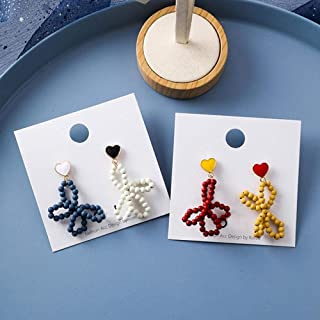 Erin Earring Versione Coreana di Eleganti Orecchini A Goccia con Fiocco di Perline di Plastica Regalo Femminile per Gioiel...