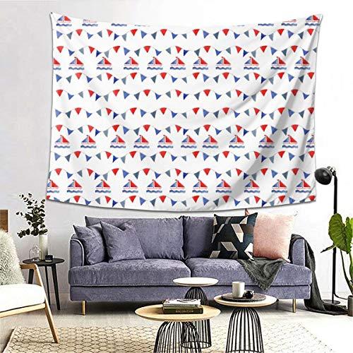 Allures Wandteppich Fanion Blanc von Nadja Petremand, 152,4 x 203,2 cm, Heimdekoration, Kunst-Tapisserie für Schlafzimmer, Wohnzimmer, Wohnheim