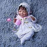 Muñeca de Juguete con Ojos Cerrado Cuerpo Renacimiento Muñeca Simulación de Silicona Suave Bebé...