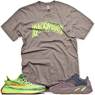 New Brown_BACKWOODS_ T Shirt for Adidas Yeezy Boost 700 Mauve 350 Semi Frozen