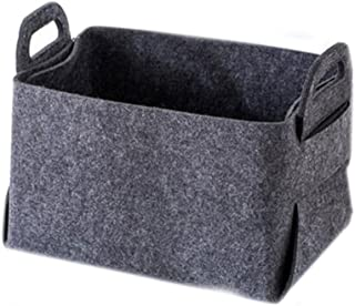 Panier de rangement Panier de rangement en tissu en feutrine Boîte de rangement Boîte de rangement for vêtements Panier à ...