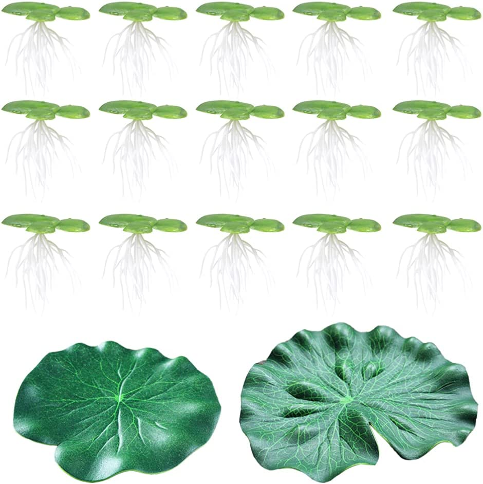 POPETPOP Plastic Floating Lotus Leaf low-pricing Ranking TOP4 Duckweed Artificial Aqu and