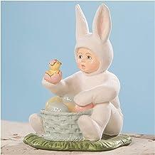 "4.25"" Easter Bunny Surprise Boy Egg Chick Spring Figurine Vintage Style Decor"