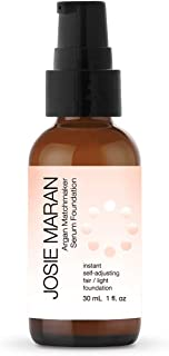 Josie Maran Argan Matchmaker Serum Foundation - Chameleon Pigments Match Skin and Provide Age-Defying Coverage - (30ml/1.0oz, Fair Light)