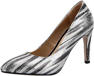 ELEEMEE Women Fashion Stiletto High Heel Pumps Shoes