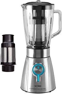 comprar comparacion Solac BV5723 Batidora de vaso, 1250 W, 1.5 litros, INOX, 5 Velocidades, Gris