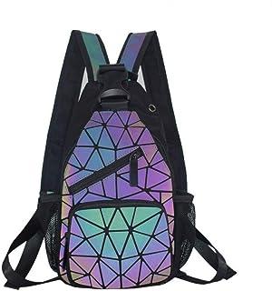 حقائب يد نسائية هندسية مضيئة حقائب بألوان متنوعة حقيبة كروس عاكسة ثلاثية الأبعاد