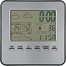 Weather Clock, Digital Wireless Weather Station Alarm Clock Thermometer Hygrometer Outdoor Indoor Temperature