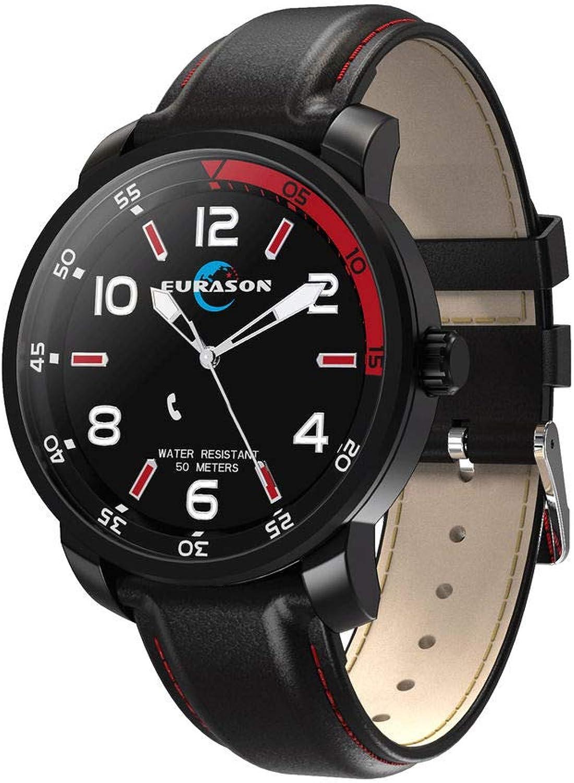 ELYSYSRL Smartwatch IP68 Wasserdicht Fitness Aktivittstracker Schrittzhler Blautdruck Herzfrequenzmesser Leuchtend Blautooth Im Freien Sportuhr (schwarz Rot)