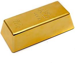 GOODS+GADGETS Goudbarre deurstopper en briefpapier - grappige deurverstelling van nep-goud bedrieglijk echt!
