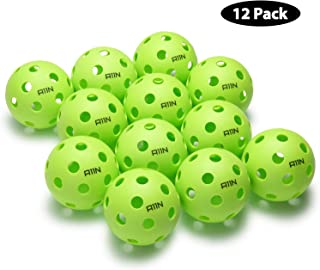 A11N Premium 26 Holes Indoor Pickleball Balls, Durable and High Visibility Ball, Special Design for Indoor Courts (6 &12 Packs Available)- Bright Green