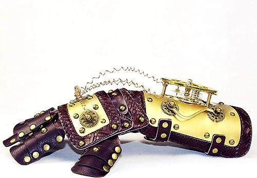 YUMUYMEY Gant de Style mécanique de Bras doré avec Costume Horloge Costumes Steampunk Accessoires Accessoires Arm Arm Guard Armor (Couleur   Mittens)