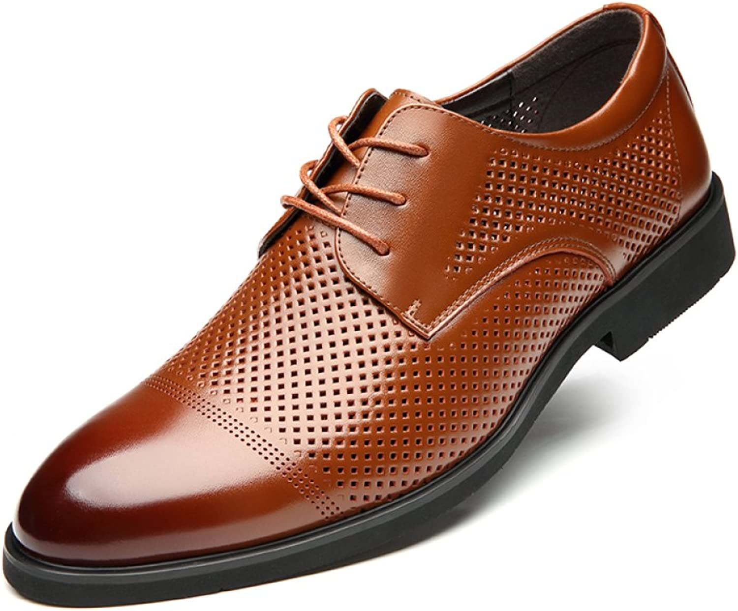 4c0b907bde1dd Summer New Men's Summer Business Casual shoes Dress shoes Leather ...